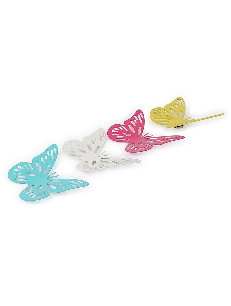 ELAN Spring Time Butterfly Magnets, Set of 4 (Small, Multicolor)