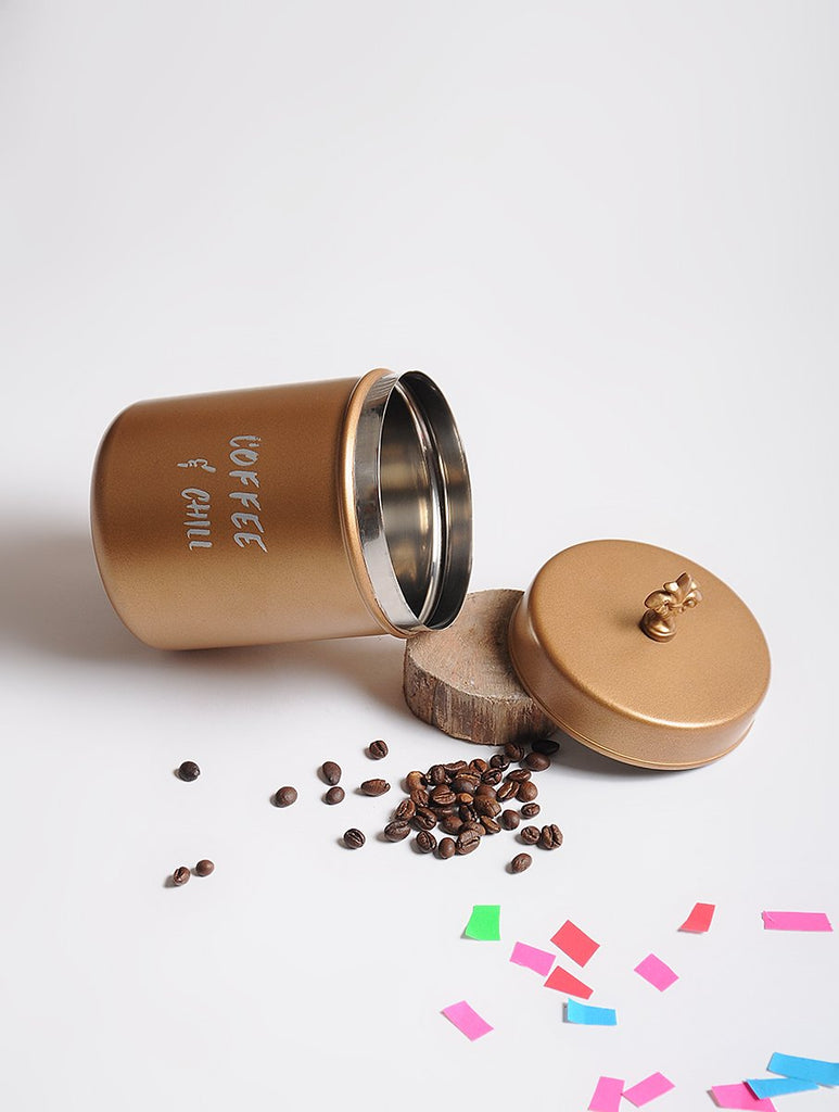 Elan Coffee & Chill Canister, Stainless Steel (500ml, Golden)