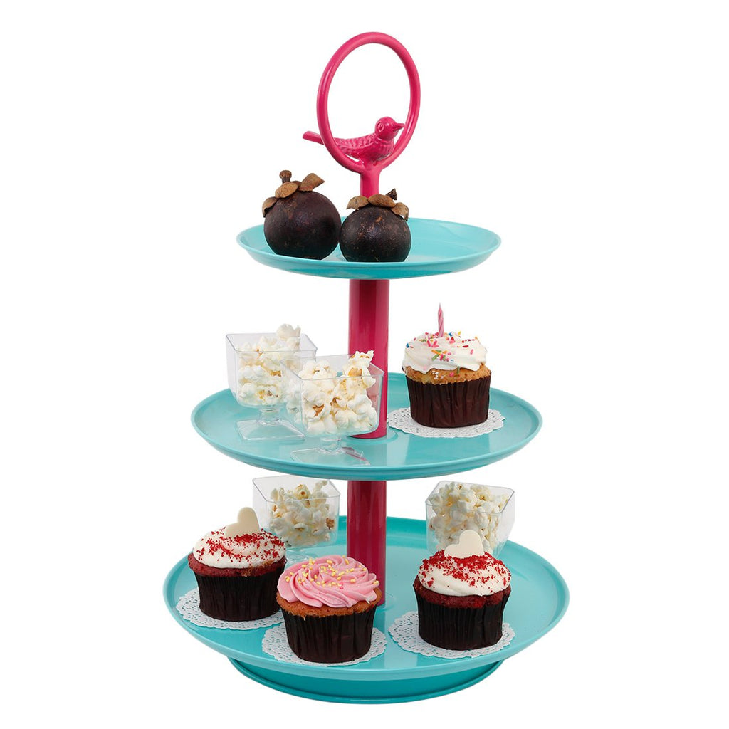 Elan Tweet Three Tier Cake Cupcake and Dessert Stand
