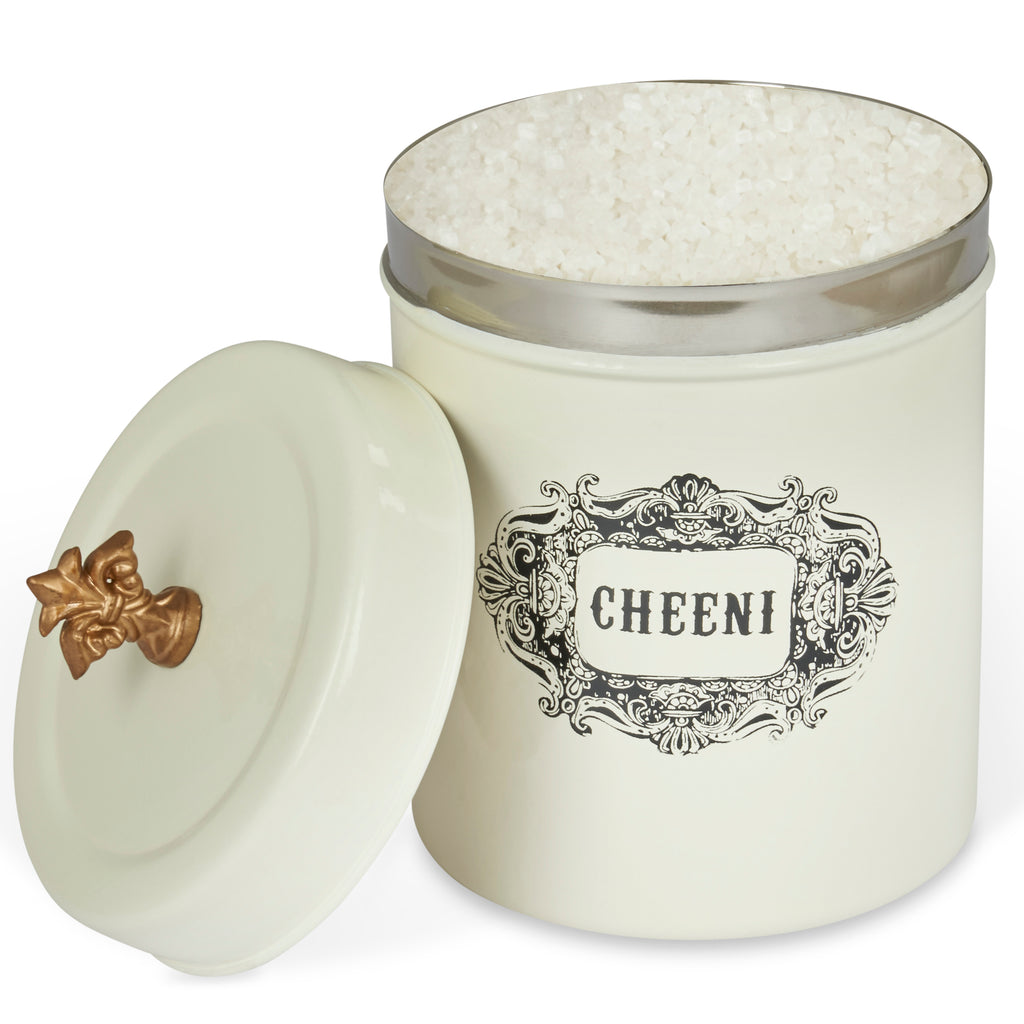 ELAN Bergen CHEENI Sugar CANISTER, Stainless Steel, 0.5Litres