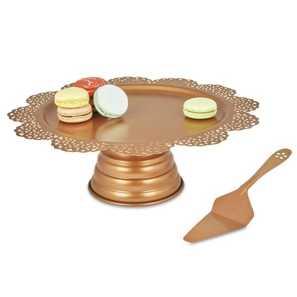 Elan Scallop Cake Stand with Server