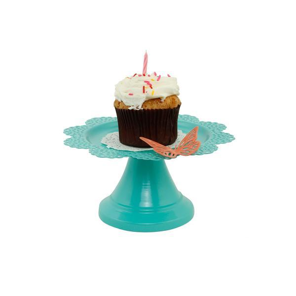 Elan Scallop Cupcake Stand for Small Desserts (6.5*6.5*3 IN)