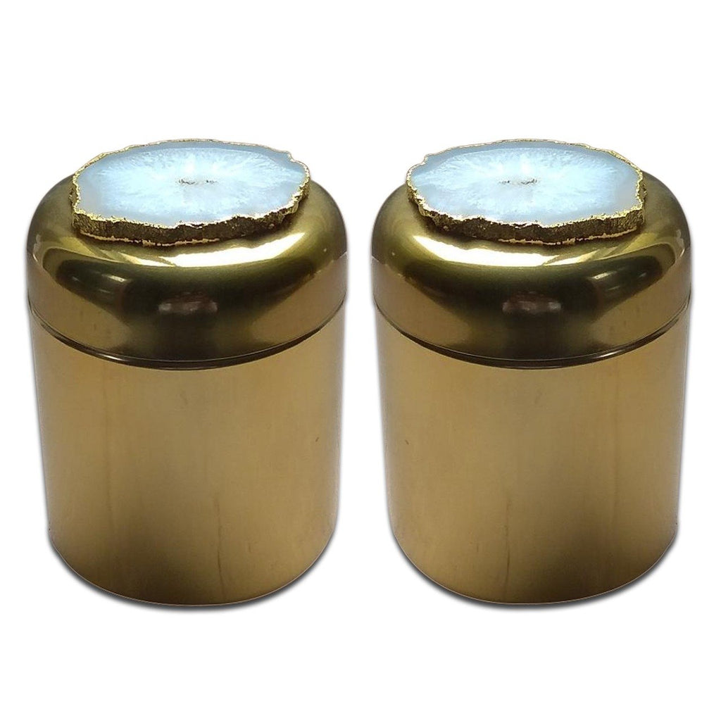 ELAN OSLO CANISTER (600ML, GOLD, SET OF 2)
