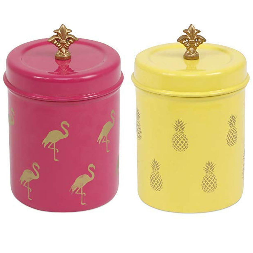 ELAN FLAMINGO & PINEAPPLE CANISTER (500ML, SET OF 2)