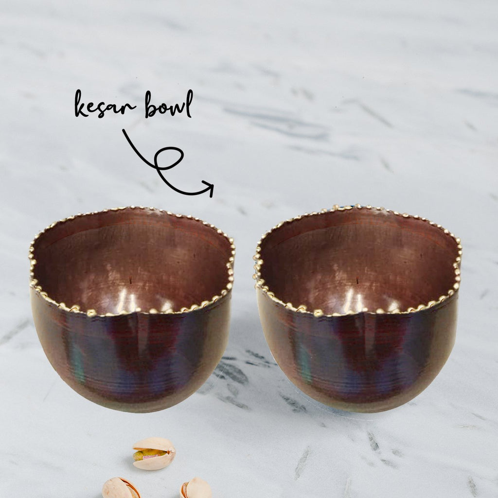 Elan Oslo Kesar Bowls, Set of 2 (Small, Copper Finish)