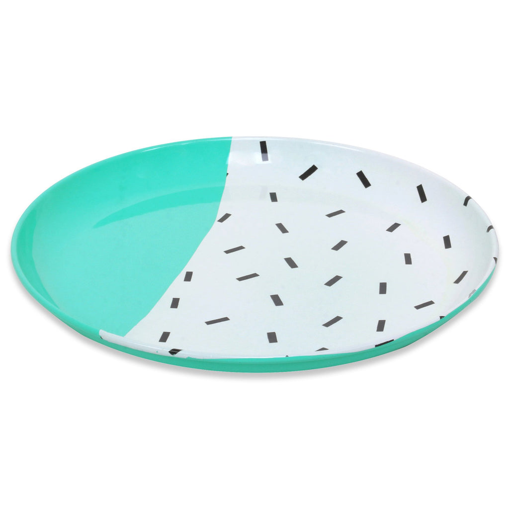 ELAN Dash Dessert and Snack Plate (Set of 2, Aqua, 6IN)