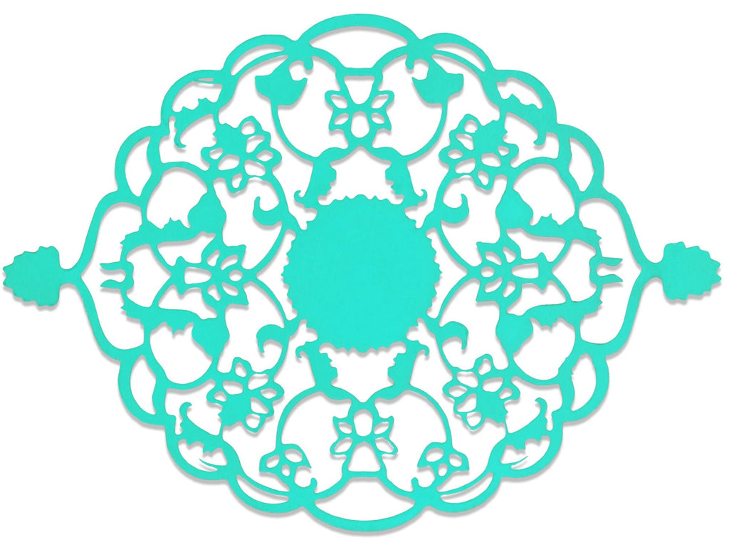 Elan Ornate Motif for Home & Gift Wrapping (Aqua)