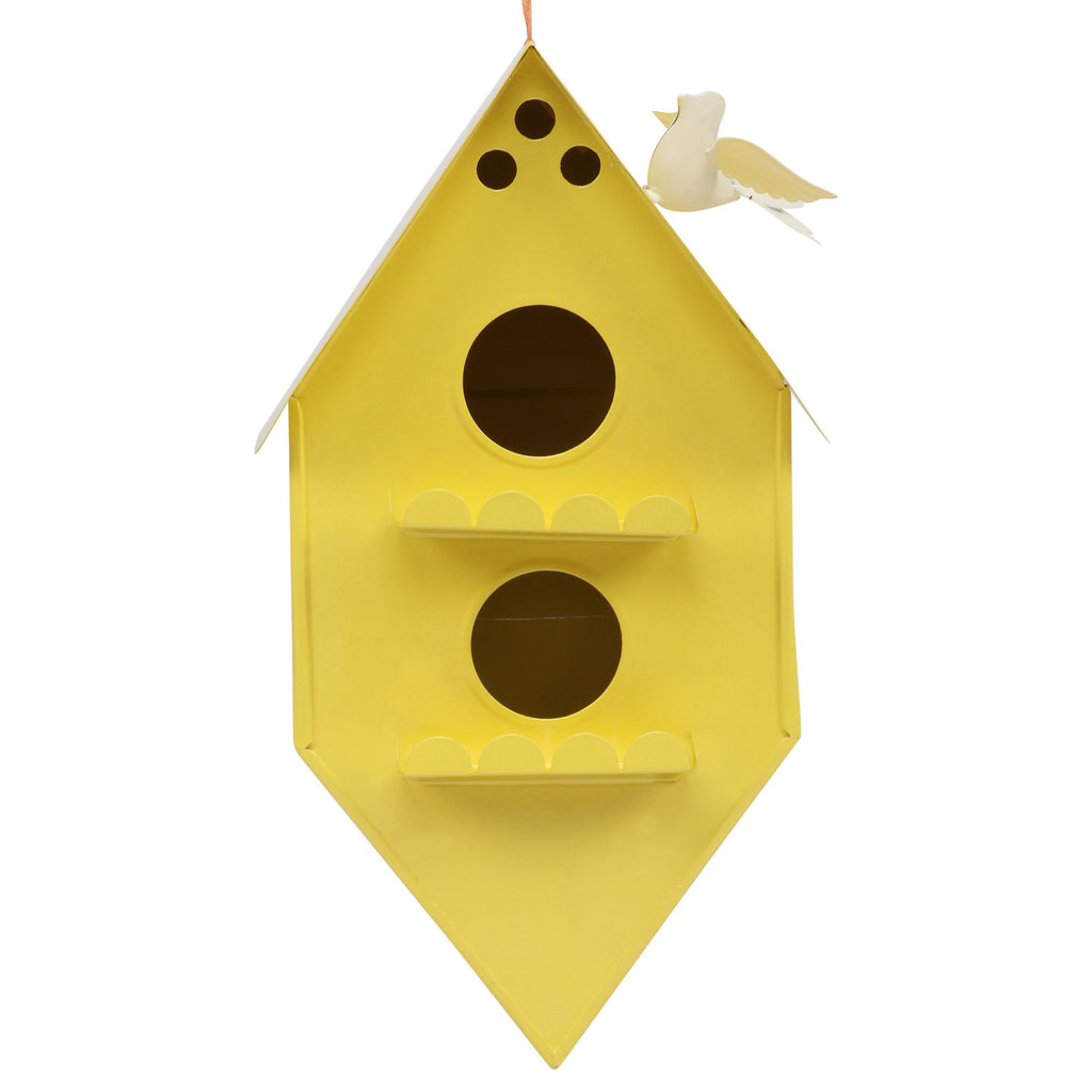 ELAN Bird House, Nest Box for Sparrows, Badries (Rhumbus, Yellow)