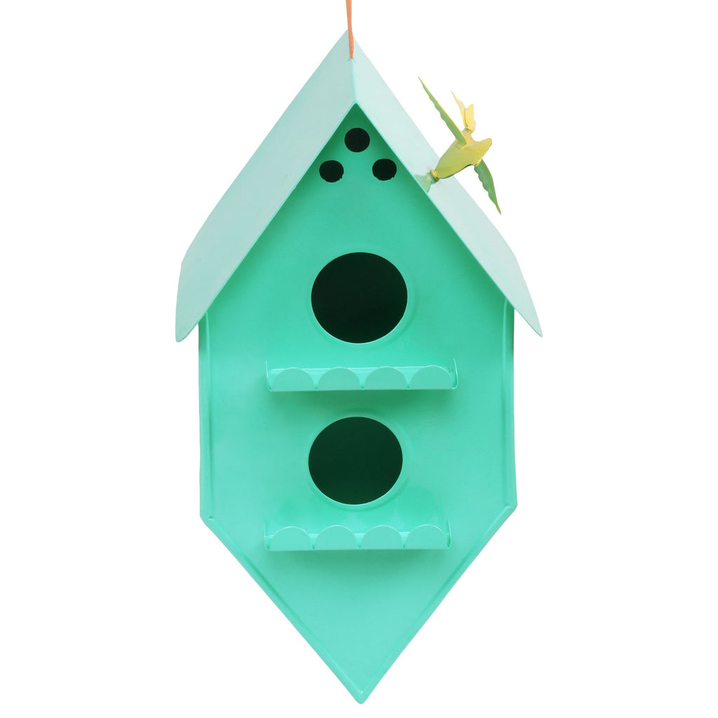 ELAN Bird House, Nest Box for Sparrows, Badries (Rhumbus, Aqua)
