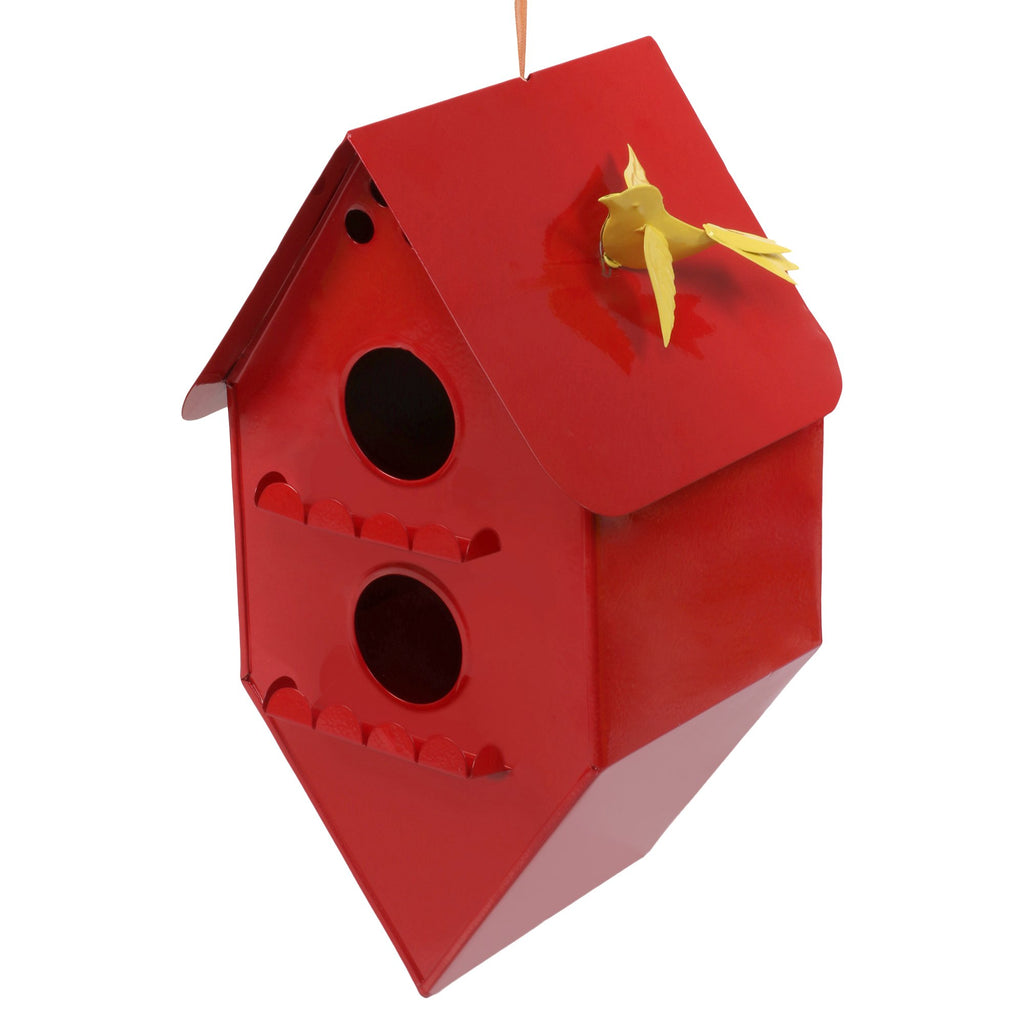 ELAN Bird House, Nest Box for Sparrows, Badries (Rhumbus, Red)