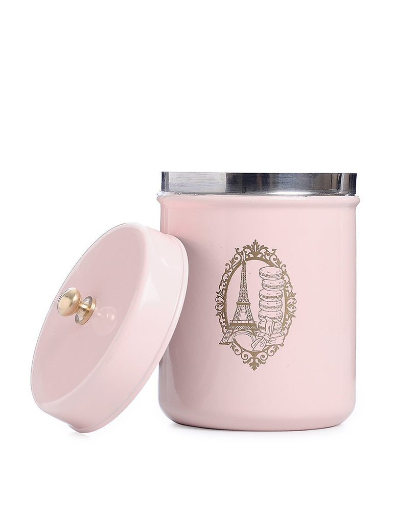 ELAN PARIS CANISTER JAR, STAINLESS STEEL (500ML, POWDER PINK)