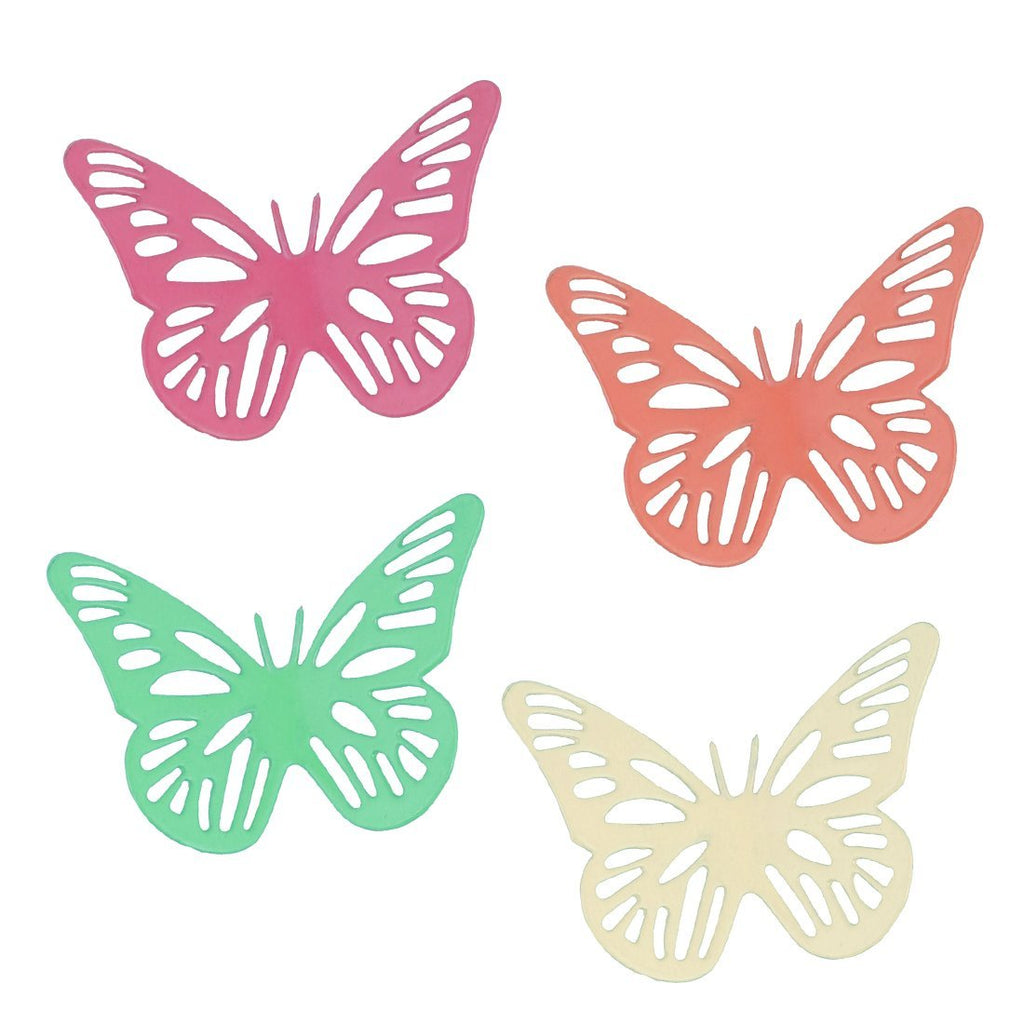 Elan Spring Butterfly Fridge Magnets (2 IN, Multicolor, Set of 4)