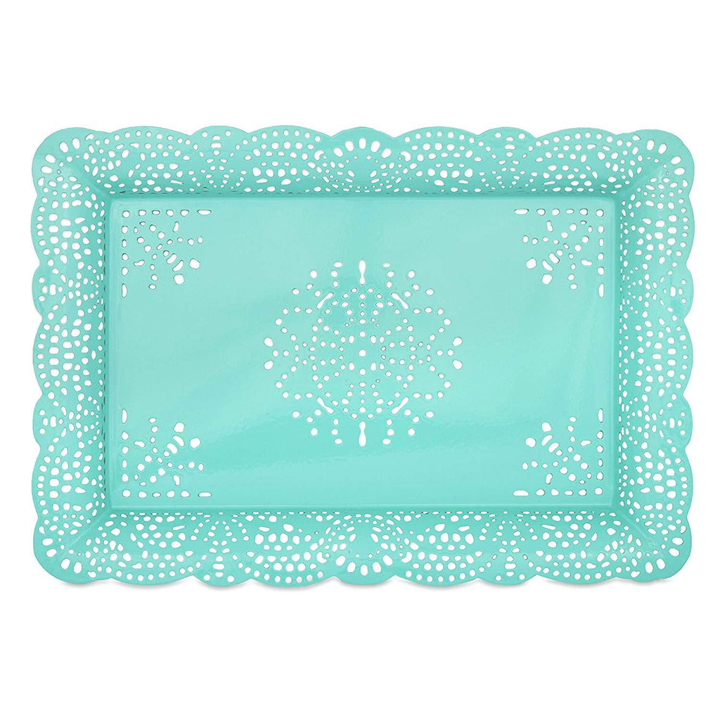 Elan Arabesque Serving Platter / Tray (Aqua)