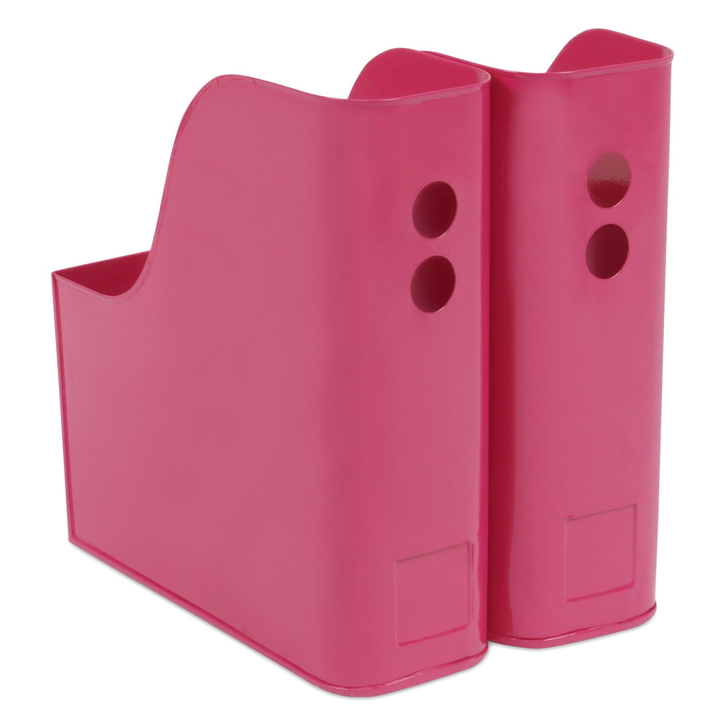 Elan Suave File & Magazine Holder, Set of 2 (Pink)
