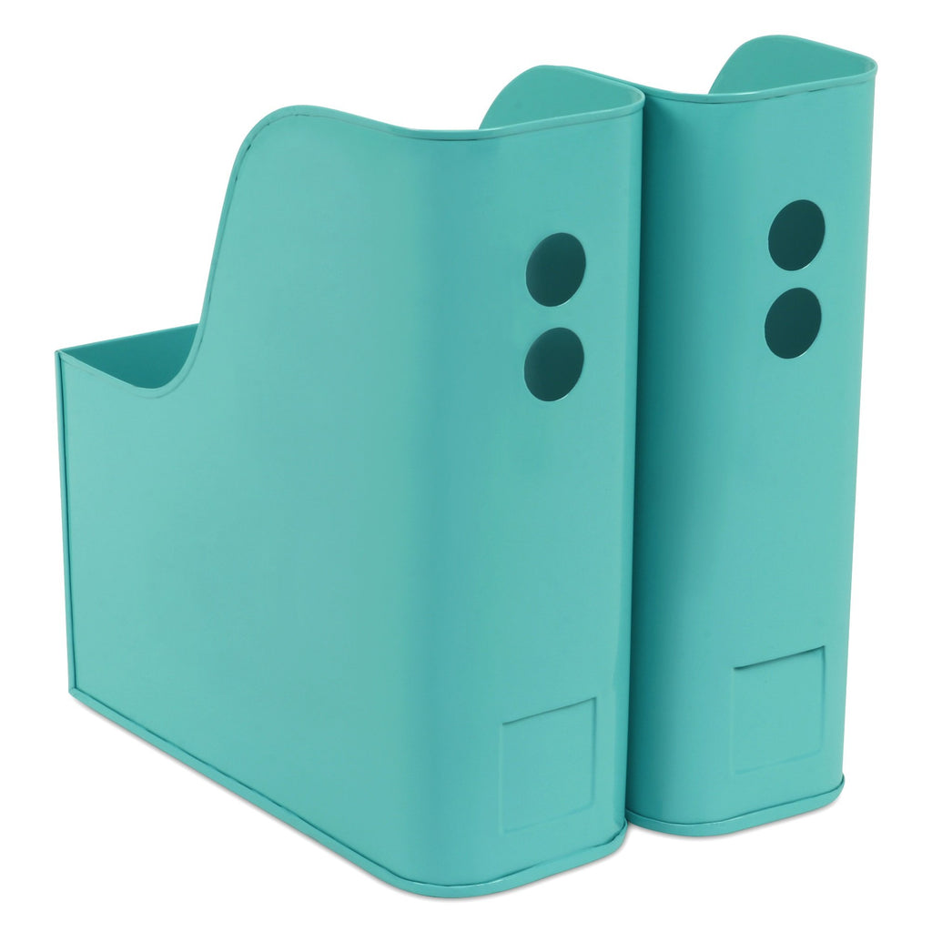 ELAN Suave File & Magazine Holder, Set of 2 (Aqua)