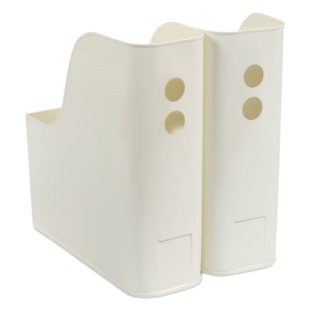 Elan Suave File & Magazine Holder, Set of 2 (Off White)