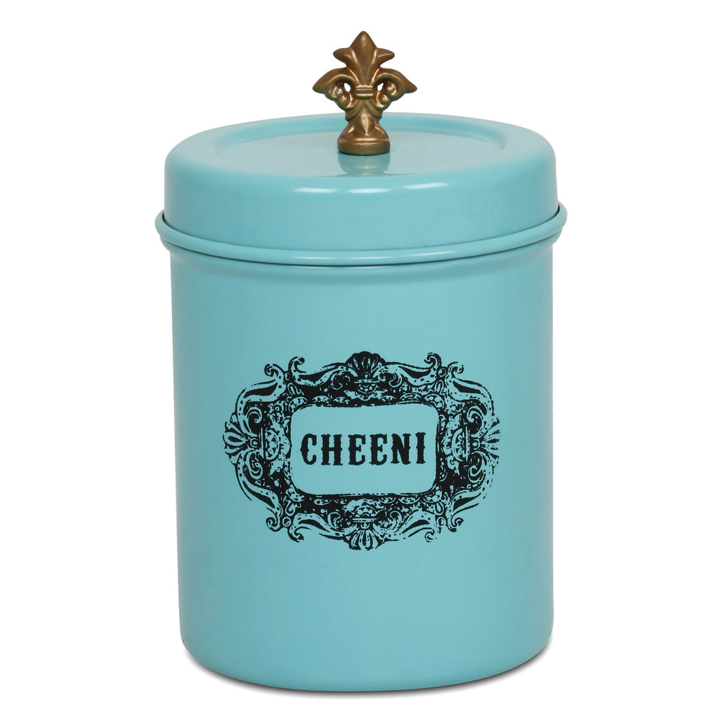Elan Cheeni Sugar Canister, Stainless Steel (500ml, Aqua)