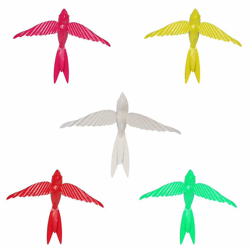 ELAN Hanging Decorative Rockstar Bird (Set of 5- Multicolour)