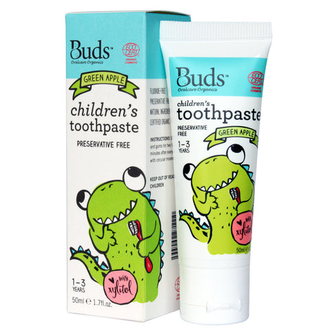 Buds Oralcare Organics - Green Apple Toothpaste with Xylitol 50ml