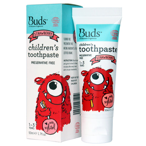 Buds Oralcare Organics - Strawberry Toothpaste with Xylitol 50ml