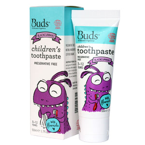Buds Oralcare Organics - Blackcurrant Toothpaste with Fluoride 50ml