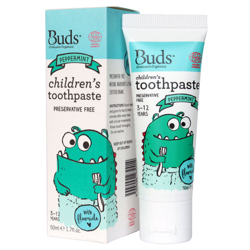 Buds Oralcare Organics - Peppermint Toothpaste with Fluoride 50ml