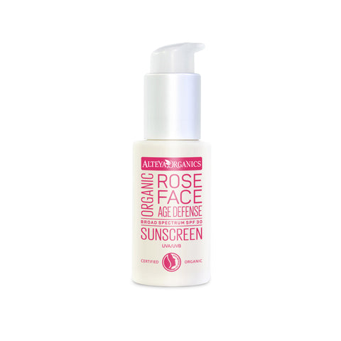 Alteya Organics - Organic Rose Face Sunscreen SPF30 50ml