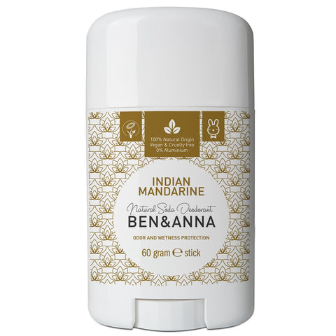 Ben & Anna Natural Soda Deodorant - Indian Mandarine 60g