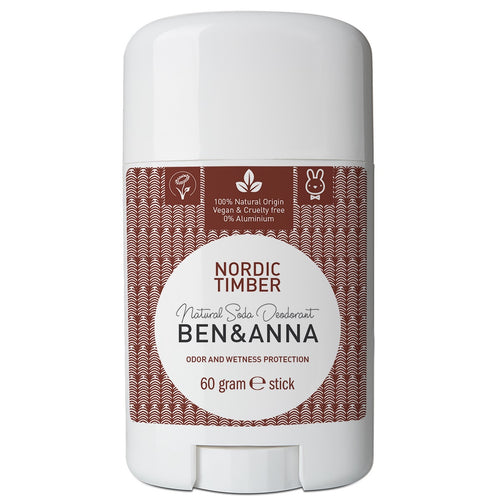 Ben & Anna Natural Soda Deodorant - Nordic Timber 60g