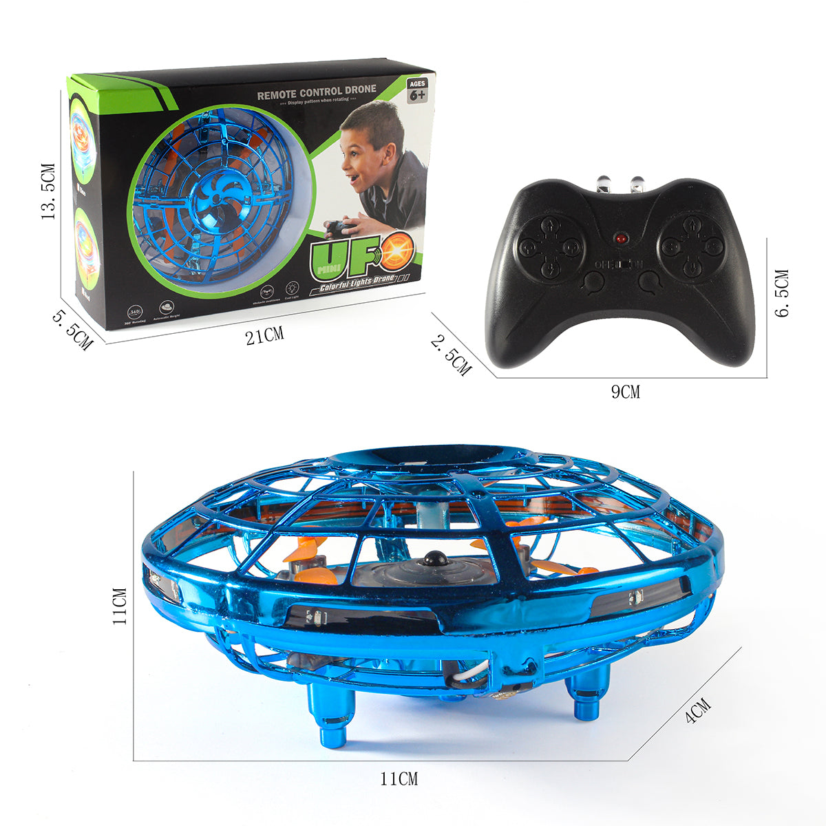 UFO Shaped Mini Drone - Though & Altitude Hold & Colorful - Drone toy for Children