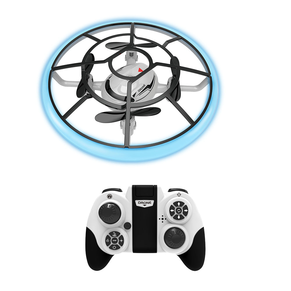 Wireless Quadcopter Mini Round Drone Helicopter for Kids (Anti-Collision, Anti-Fall, One-Key Return)