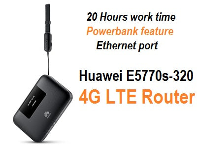 Unlocked Huawei E5770s-320 4G LTE 150Mbps Mobile Router