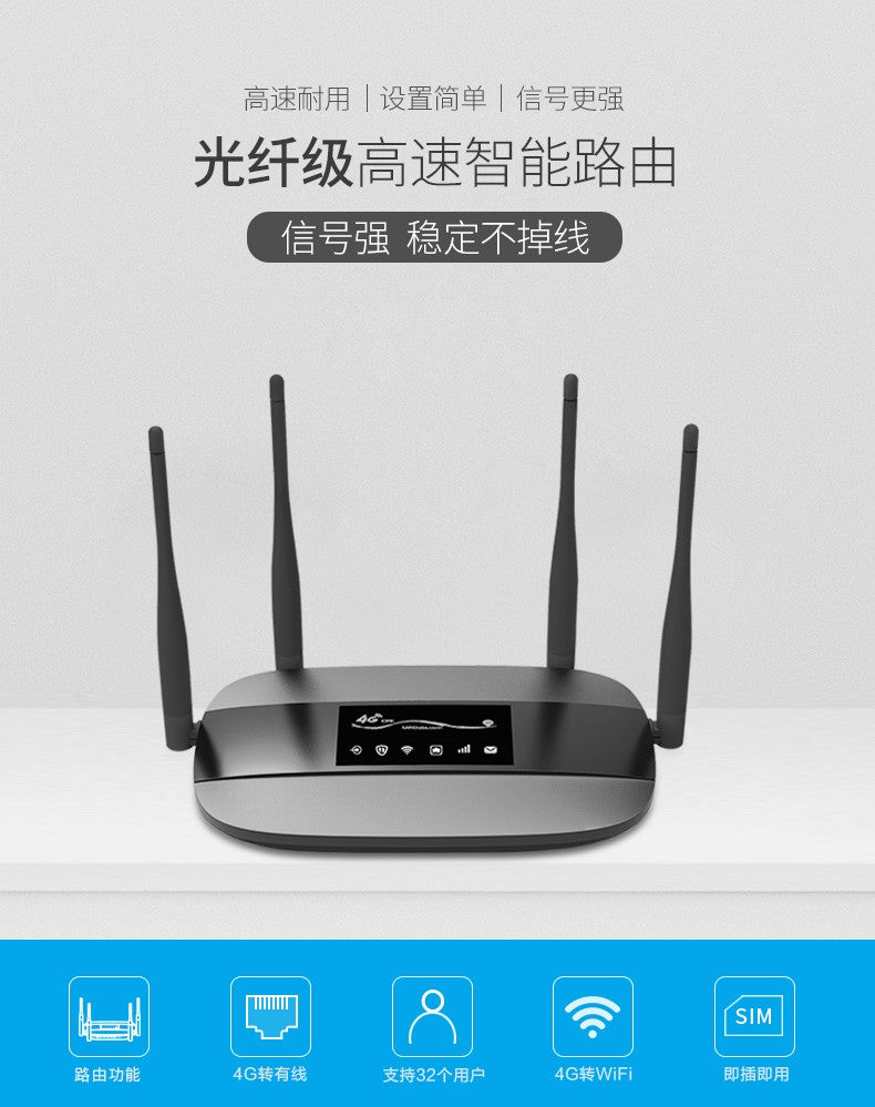 Unlocked LC111 300Mbps RJ45 Simcard 4G LTE Wifi Router Hotspot