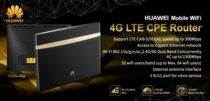 Unlocked Huawei B525s-23a CPE 4G LTE Cat6 Wireless Wifi Router