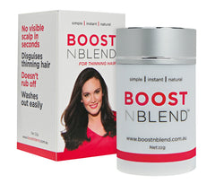 Boost n Blend hair building thickening fibres for women with thinning hair colour range