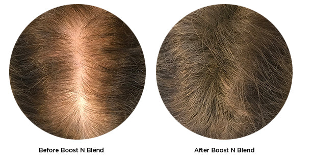 Before and after Boost N Blend
