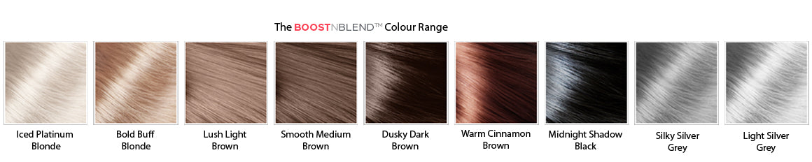Boost n Blend hair thickening fibres for women colour range