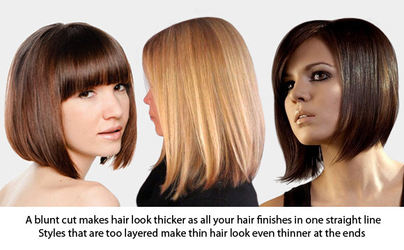 Blunt Hairstyles for thinning hair or fine hair