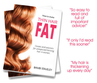 by Trained Nurse, hair loss writer and author Bambi Staveley