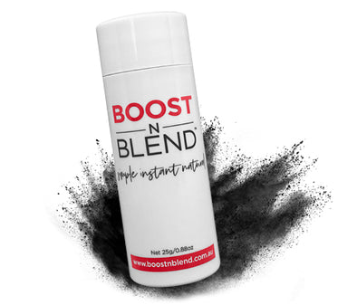 Boost N Blend™ Midnight Shadow Black Hair Loss Concealer, BOOST Hair Instantly