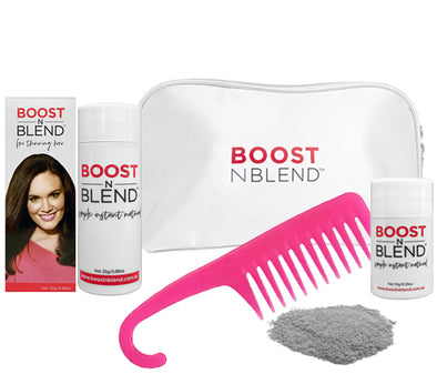 Boost N Blend™ Gift Pack WITH COMB - Silky Silver Grey