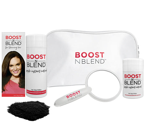 Boost N Blend™ Female Hair Fibres Bundle Gift Pack - Midnight Shadow Black