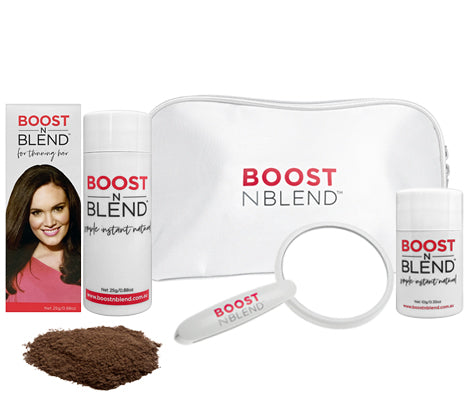 Boost N Blend™ Female Hair Fibres Bundle Gift Pack - Dusky Dark Brown