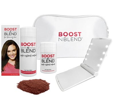 Boost N Blend™ LED Mirror Bundle Gift Pack - Warm Cinnamon Brown