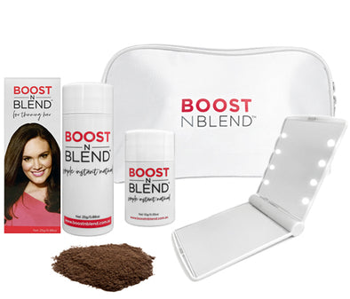 Boost N Blend™ LED Mirror Bundle Gift Pack - Dusky Dark Brown