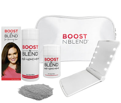 Boost N Blend™ LED Mirror Bundle Gift Pack - Silky Silver Grey