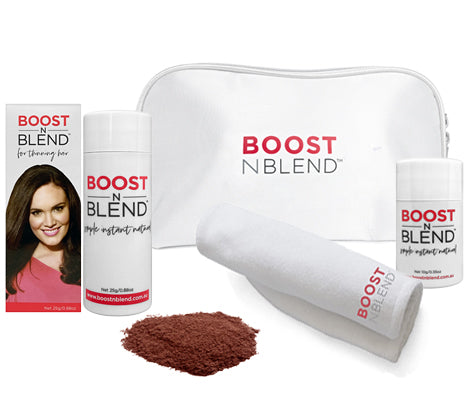 Boost N Blend™ Bundle Gift Pack with Microfibre Towel - Warm Cinnamon Brown
