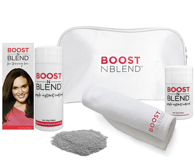Boost N Blend™ Bundle Gift Pack with Microfibre Towel - Silky Silver Grey
