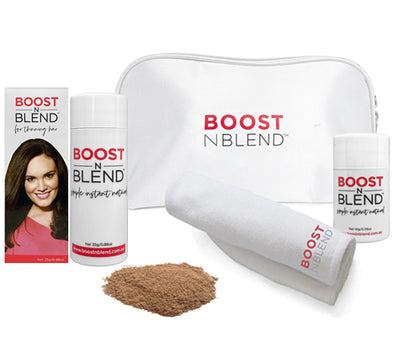 Boost N Blend™ Bundle Gift Pack with Microfibre Towel - Lush Light Brown