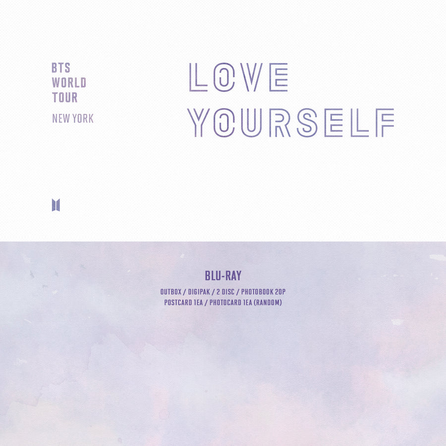 BTS WORLD TOUR  'LOVE YOURSELF' NEW YORK  BLU-RAY